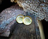 Náušnice - Krúžky 12 mm s kovovým efektom (zlaté) - 8808256_