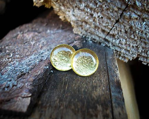 Krúžky 12 mm s kovovým efektom (zlaté)