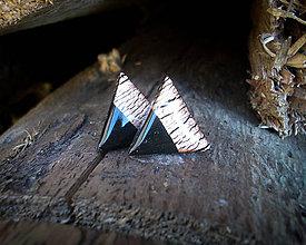 Náušnice - Trojuholníky 20 mm MINIMAL (bronz) - 8808313_