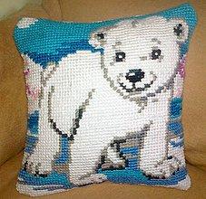 Úžitkový textil - vankúš medvedík - 8806882_