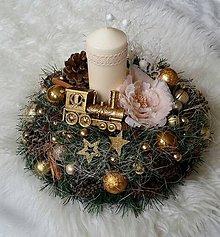 Dekorácie - Vianočná vintage dekorácia - 8809345_