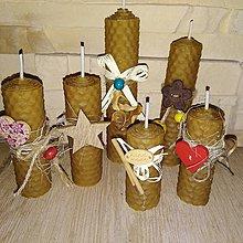 Svietidlá a sviečky - Vôňa medu - sviečky z včelieho vosku - 8808366_