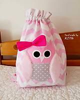Detské tašky - ruksak, batôžtek sovička - 8810380_