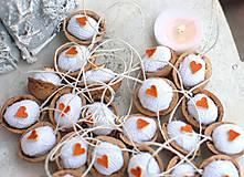 Dekorácie - Bielo-pomarančové - 8807153_