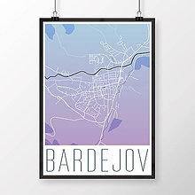 Grafika - BARDEJOV, moderný, modro-fialový - 8808292_