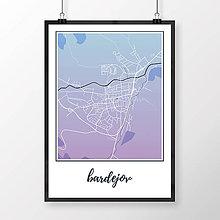 Grafika - BARDEJOV, klasický, modro-fialový - 8808302_