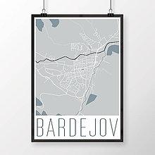 Grafika - BARDEJOV, moderný, svetlomodrý - 8808758_