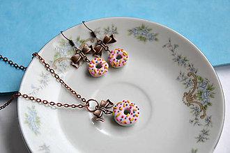 Sady šperkov - Donut, sada, fimo, náušnice, prívesok - 8806735_