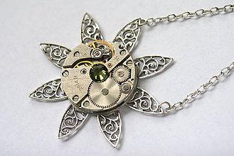 Náhrdelníky - Steampunkový náhrdelník Hviezda - 8810826_