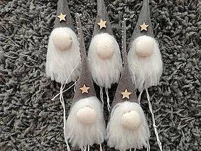 Dekorácie - Vianočný škriatkovia na stromček. - 8807179_