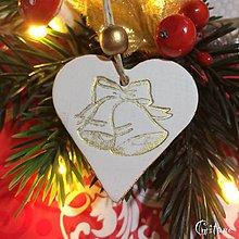 Dekorácie - Vianočné srdiečka 1. - 8805795_