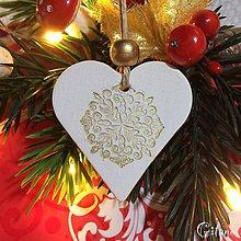 Dekorácie - Vianočné srdiečka 4. - 8805811_