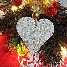 Dekorácie - Vianočné srdiečka 6. - 8805832_