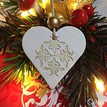 Dekorácie - Vianočné srdiečka 7. - 8805841_