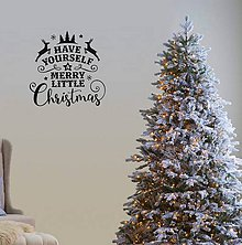 Dekorácie - Vianočné nálepky na stenu - Merry Little Christmas - 8805690_