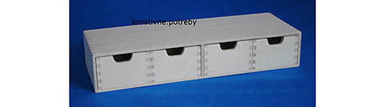 Polotovary - Komoda 4 šuflíky 03 masív 56cm - 8808928_