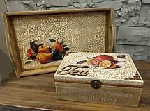 Krabičky - Podnos+čajová krabica - 8806614_