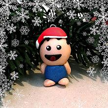 Hračky - Vianočná figúrka - tlstý chalan - 8805826_