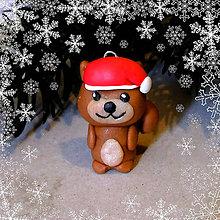Hračky - Vianočná figúrka - veverička - 8806169_