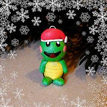 Hračky - Vianočná figúrka - želvička - 8806170_