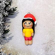 Kľúčenky - Vianočná figúrka - dievča - 8808549_