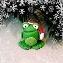 Hračky - Vianočná figúrka - žabka - 8809999_