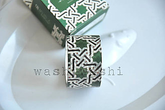 Papier - washi paska zelene geometrie - 8816217_
