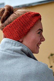 Ozdoby do vlasov - Čelenka s alpakou: oranžová - 8812470_