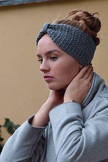 Ozdoby do vlasov - Čelenka s alpakou: sivý mix - 8812539_