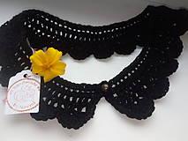Náhrdelníky - Čierny vintage golier - 8812198_