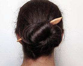 Ozdoby do vlasov - Drevená ihlica do vlasov - 8815155_