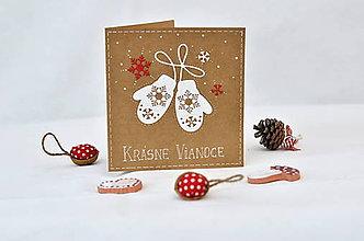 Papiernictvo - Vianočné prianie - Rukavičky II. - 8815808_