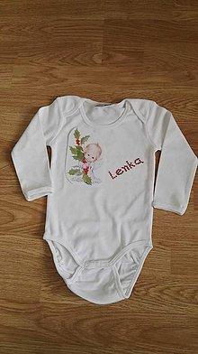Detské oblečenie - Vianočné body s menom - 8812744_