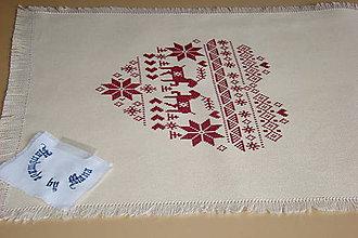 Úžitkový textil - Ručne vyšívaný  obrus /štola/ - 8812777_