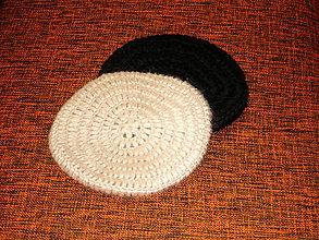 Čiapky - Háčkovaná čiapka čierná - 8815144_