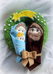 Dekorácie - Sv. rodina vianočný venček - 8815642_