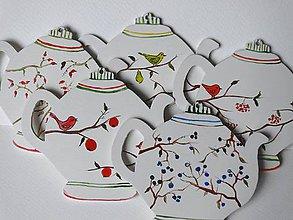 Dekorácie - Maľované čajníky - 8815272_