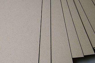 Polotovary - Šedá lepenka v rôznych hrúbkach a formátoch (hrúbka 1mm 21x30cm (A4)) - 8811269_