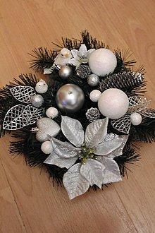Svietidlá a sviečky - Vianočná ikebana