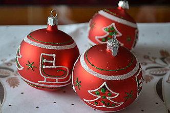 Dekorácie - Guličky s vianočnou tématikou - 8815157_