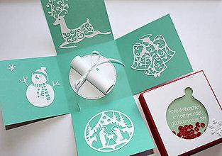 Krabičky - Vianočná guľa v zelenom - 8813273_