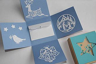 Krabičky - Modrá hviedička (Hviezda) - 8813345_