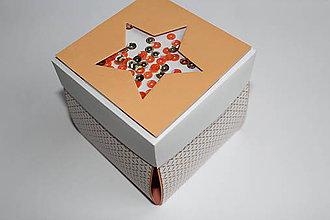 Krabičky - Oranžová hviezda - 8813403_