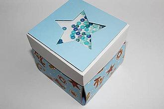 Krabičky - Modrá hviedička - 8813420_