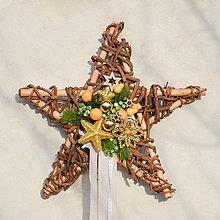 Dekorácie - Vianočná hviezda na zavesenie - 8813377_