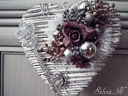 58b187286 Vianočná dekorácia srdce. / stuhy - SAShE.sk - Handmade Dekorácie