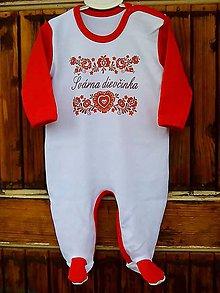Detské oblečenie - Overal švárna dievčinka -červená - 8813310_