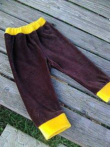 Detské oblečenie - tepláčiky č.92 hnedé - 8813122_