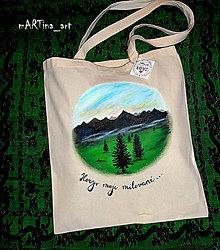Nákupné tašky - Hory moje milované - taška - 8815787_