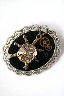 Odznaky/Brošne - Steampunková brošňa rozbehnutý Chrobáčik - O.O.A.K. - 8811980_